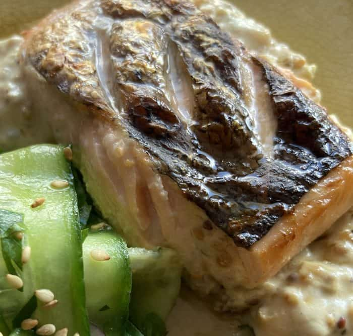 Salmon with Cucumber relish
