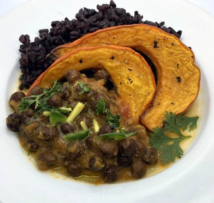 Black Chickpea and Squash Curry